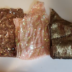 Lot of Express Sequin Scarves